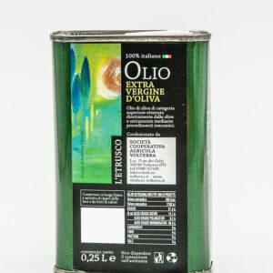 Olio Extra vergine di oliva - Latta 0.25Lt